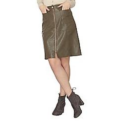 Dorothy Perkins - Khaki a-line skirt