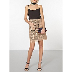 Dorothy Perkins - Cream lace a-line skirt