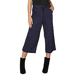 Dorothy Perkins - Navy tie waist culottes