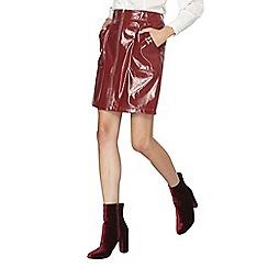 Dorothy Perkins - Red pu mini skirt