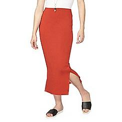Dorothy Perkins - Rust jersey maxi skirt