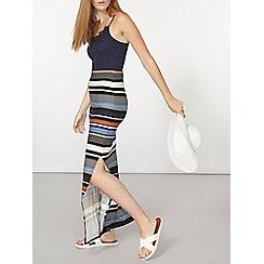 Dorothy Perkins - Blue and orange striped maxi skirt