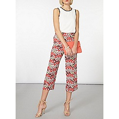 Dorothy Perkins - Pink and white floral crop trousers