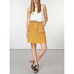Dorothy Perkins - Yellow daisy print aline skirt