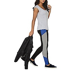 Dorothy Perkins - Black and blue sporty leggings