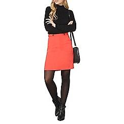 Dorothy Perkins - Orange button a-line skirt