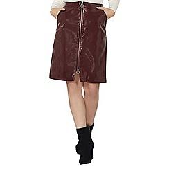 Dorothy Perkins - Berry patent zip a-line skirt