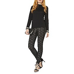 Dorothy Perkins - Charcoal check print treggings