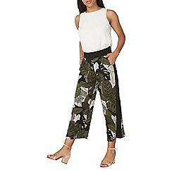 Dorothy Perkins - Blush and khaki tropical crop trousers