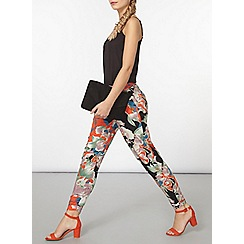 Dorothy Perkins - Green and orange oriental print jogger