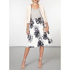 Dorothy Perkins - Black and white floral skirt