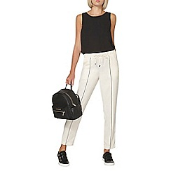Dorothy Perkins - White front piped joggers