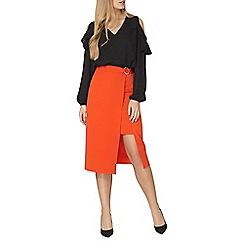 Dorothy Perkins - Orange d ring column skirt