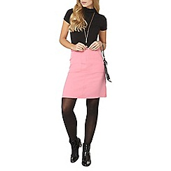 Dorothy Perkins - Pink button a-line skirt