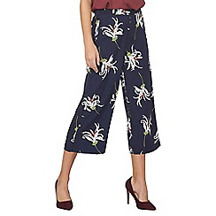 Dorothy Perkins - Navy floral oriental culottes