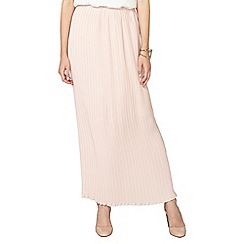 Dorothy Perkins - Pink blush pleated maxi skirt