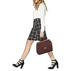 Dorothy Perkins - Grey and white dogtooth printed a-line skirt