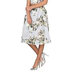 Dorothy Perkins - Grey floral print full skirt