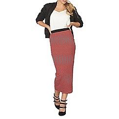 Dorothy Perkins - Red striped tube skirt