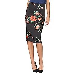 Dorothy Perkins - Oriental print scuba skirt