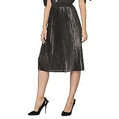 Dorothy Perkins - Silver chain pleat midi skirt