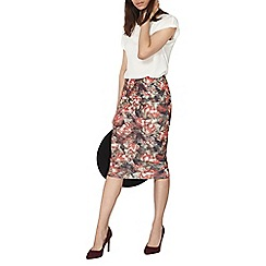 Dorothy Perkins - Floral scuba pencil skirt
