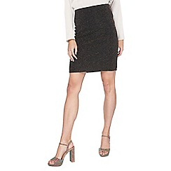 Dorothy Perkins - Tall black and gold lurex mini skirt