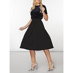 Dorothy Perkins - Black jersey pleated full skirt