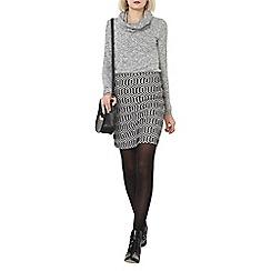 Dorothy Perkins - Black and white zig zag mini skirt