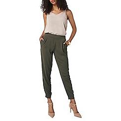 Dorothy Perkins - Khaki woven soft trousers