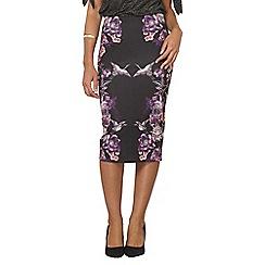Dorothy Perkins - Purple printed strechy skirt