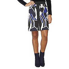 Dorothy Perkins - Blue and black a-line skirt