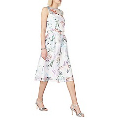 Dorothy Perkins - White tropical print organza skirt