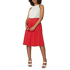 Dorothy Perkins - Red cotton full skirt