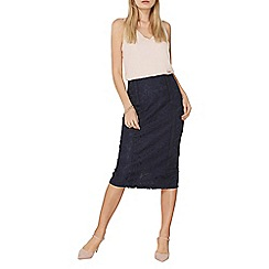 Dorothy Perkins - Navy lace pencil skirt