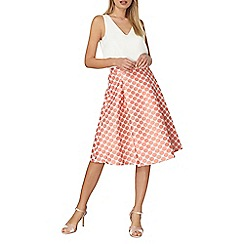 Dorothy Perkins - Coral spotted full skirt