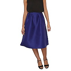 Dorothy Perkins - Cobalt satin full skirt