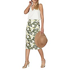 Dorothy Perkins - Floral embroidered pencil skirt