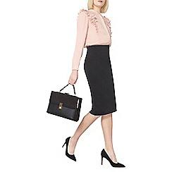 Dorothy Perkins - Black zip scuba pencil skirt