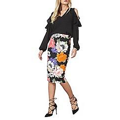 Dorothy Perkins - Floral scuba pencil skirt