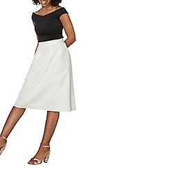 Dorothy Perkins - White textured full skirt