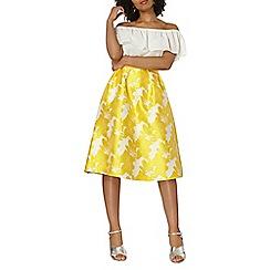 Dorothy Perkins - Yellow floral full skirt