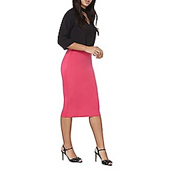 Dorothy Perkins - Pink scuba zip pencil skirt