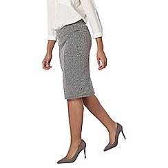 Dorothy Perkins - Grey zip pencil skirt