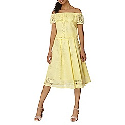 Dorothy Perkins - Yellow lace full skirt