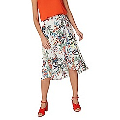 Dorothy Perkins - Tropical wrap ruffle skirt