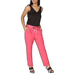 Dorothy Perkins - Pink tie waist joggers