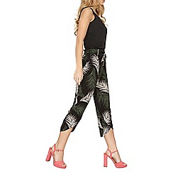 Dorothy Perkins - Palm printed curve hem trousers