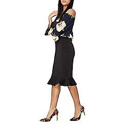 Dorothy Perkins - Black scuba pencil skirt