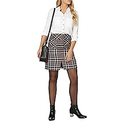 Dorothy Perkins - Grey and red check aline skirt